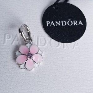 Pandora Magnolia Bloom Flower Dangle Silver 925